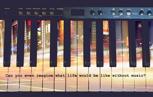 10knotes:  Submitted by musicandlyricss:  Can you imagine what life would be like without music? Featured on 10Knotes, the 10,000 notes blog.