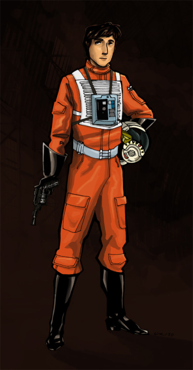Wedge Antilles by mysticmaud