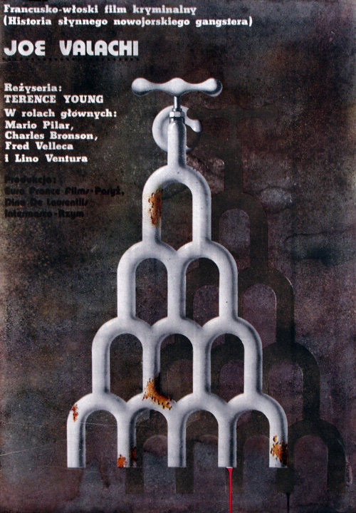 The Valachi Papers, 1972, dir. Terence Young (film poster designed by Edward Lutczyn)