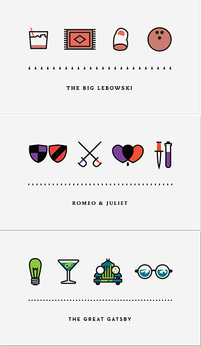 nevver:  Four Icons  This mix of books is pretty great. Would be a great poster!