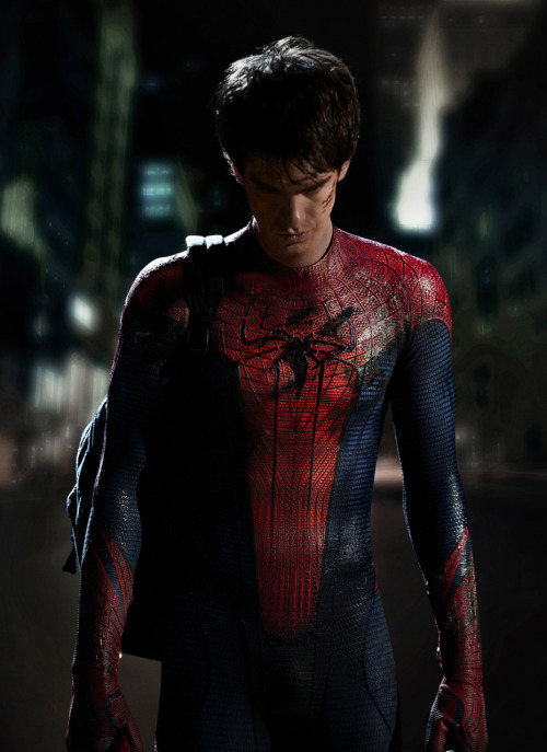 The first official image of Andrew Garfield as Spider-Man. We saw him in Telluride in September, and he looked kind of pipsqueaky then. He looks kind of pipsqueaky here. (And isn't his hair a little too…Bieberish?) Photo by John Schwartzman / Columbia Pictures