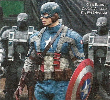 Captain America is packing!