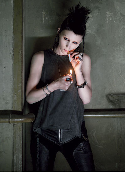 thysz:  Rooney Mara as Lisbeth Salander in David Fincher's adaptation of Stieg Larsson's The Girl With a Dragon Tattoo. — FUCKING BAD-ASS. I don't know how they're gonna top Noomi Rapace and the original Swedish production, but I'm rooting for Fincher et. al.