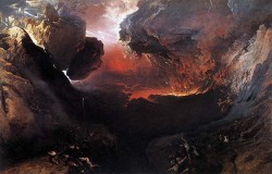 "John Martin, ""The Great Day of His Wrath,"" 1853, oil on canvas, 77.56 × 119.29 in, Tate Britain, London, UK. More about the work of John Martin"