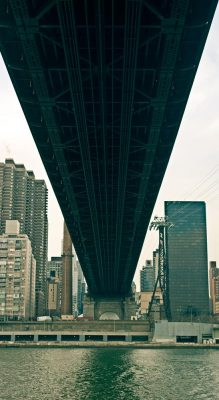 The Queensboro Bridge from Roosevelt Island - December, 2010