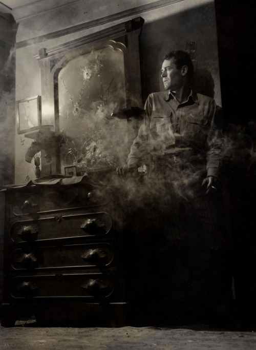 "Henry Fonda in The Long Night (1947, dir. Anatole Litvak) (photo by Alexander Kahle/RKO) ""There is no trap so deadly as the trap you set for yourself.""  -Raymond Chandler, The Long Goodbye"