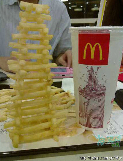 The McDonald's fry tower is a true wonder of the modern age.