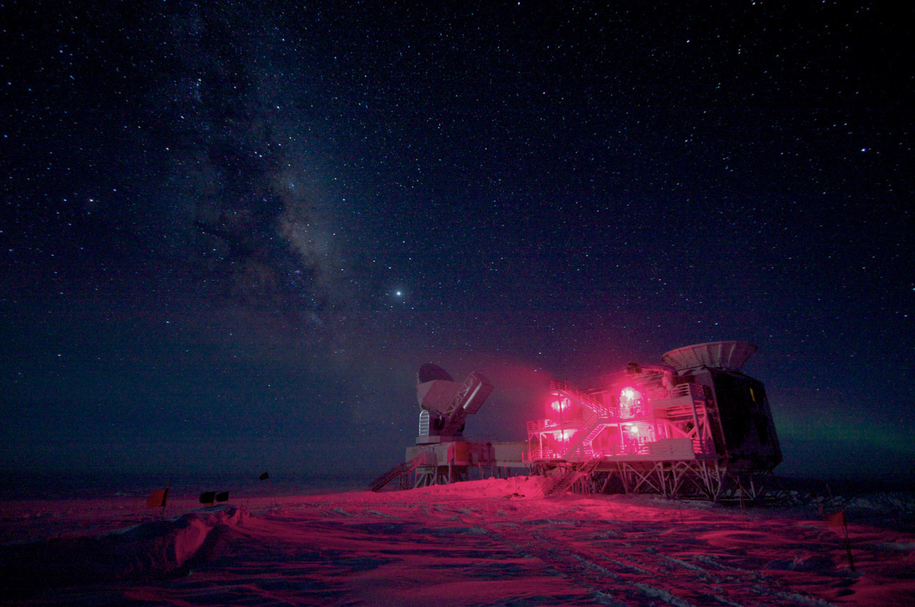 The night sky seen from a telescope outpost at the South Pole. #
