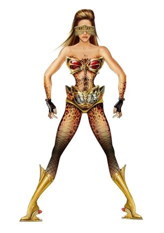 "Thierry Mugler For Beyonce….. Her outfit for the ""Diva"" in her ""I Am… World Tour"". Mugler imagined Sasha Fierce as Superhero/Villain coming from another universe."