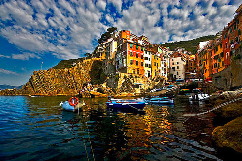 ysvoice:  | ♕ |  Sky over Manarola, Cinque Terre, Italy  | by johnnycanuck  Places I've Been. XOXO