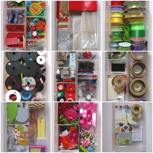 Organizing craft supplies (by Benita)