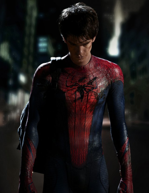 diaryofafilmstudent:  First Look: Andrew Garfield as a  'Spider-Man'  HHHHmmmmmm does he look the part?