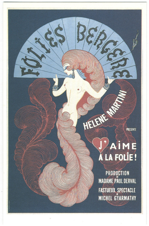 Erté, poster for the Folies Bergère