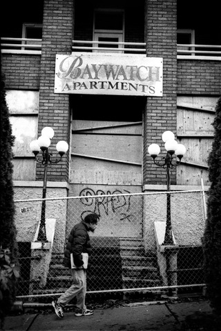 "Baywatch Apartments. Leica M2 +40mm M-Rokkor f2, Eastman XX 5222 + HC-110 ""B"""