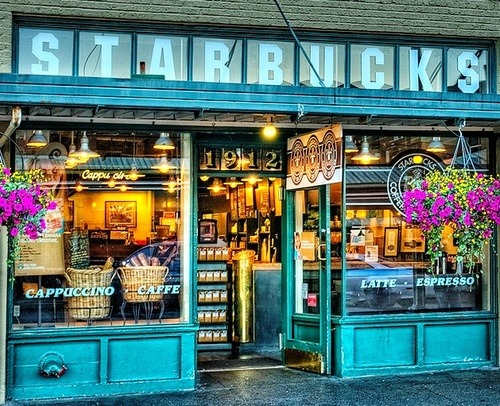<3 it! Sooo quaint <3  sunsurfer:  Original Starbucks, Seattle, Washington  photo from seattletimes