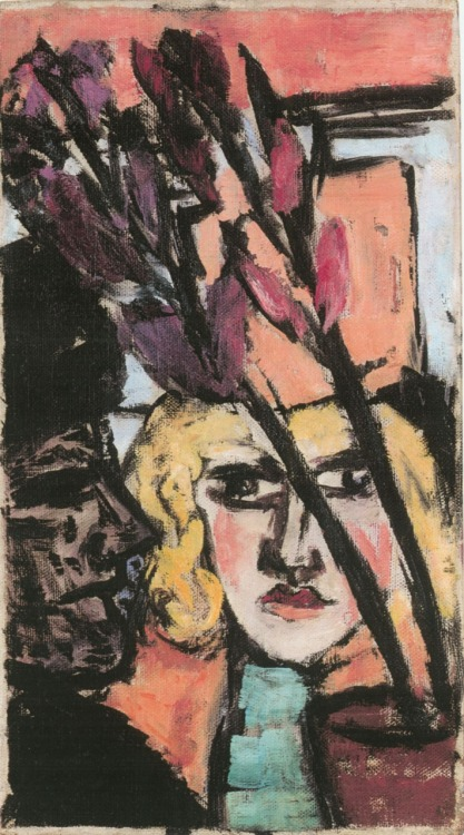 amare-habeo:  Max Beckmann - Two women with flower (Zwei Frauen mit Blume), 1942 via Galerie Thomas, Munich, Germany