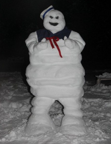 "Stay Puft Snowman. ""NOBODY steps on a church in my town."""