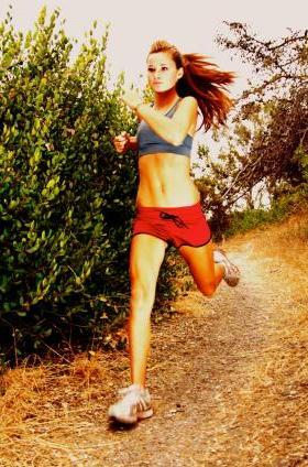 10. run with a sports bra, and without a shirt. mmmhm.