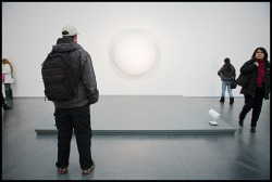 Admiring Robert Irwin's Untitled at the MCA, January 2011. © Jonathan Mathias