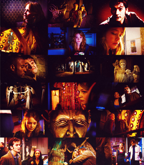 emmahyphenjane:  Top 10 Doctor Who Episodes 3.10 - Blink  Fascinating race, the Weeping Angels. The only psychopaths in the  universe to kill you nicely. No mess, no fuss, they just zap you into  the past and let you live to death. Rest of your life, used up, blown  away in a blink of an eye. You die in the past and in the present they  consume the energy of all the days you might have had. All your stolen  moments. They're creatures of the abstract, they live off potential  energy.
