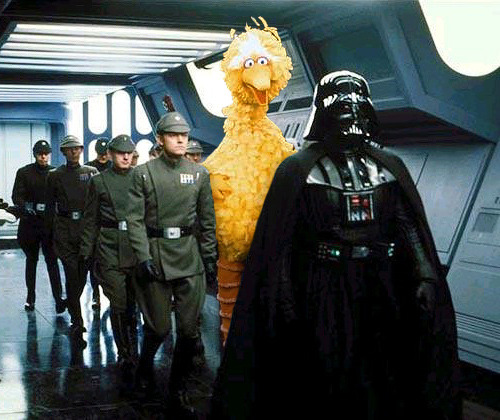 ratherchildish:  No, Bird, NOOOOOO!!!!  He's looking for Darth Snuffleupagus!