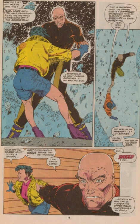 northstarfan:  Jubilee takes Professor X rollerblading. I've decided that no, it's not just nostalgia that keeps me adoring Lobdell's initial run on X-Men.
