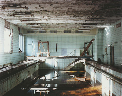 Prypiat swimming pool. Prypiat is an abandoned city in the Zone of Alienation in northern Ukraine, Kiev Oblast, near the border with Belarus. It was home to the Chernobyl Nuclear Power Plant workers. The city was abandoned abruptly in 1986 following the Chernobyl disaster. Its population of 50,000 were given 72 hours to flee.