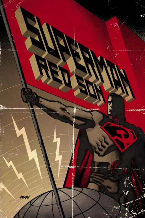 geek-art:  Geek-Art.net V2.0 guys ! herochan:  Superman: Red Son hardcover front by Dave Johnson DeviantArt || Twitter
