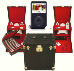 Karl Lagerfeld's custom ipod case made by Louis Vuitton