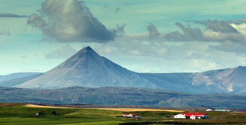 This is Baula in Western Iceland. My grandmother has climbed it, you can too. Photo by Halldór Sigurðsson.