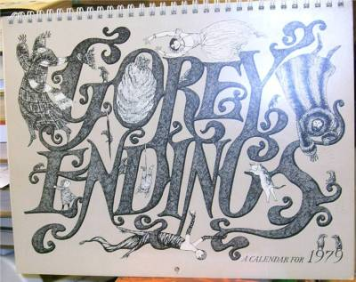 Gorey Endings, A Calendar for 1979