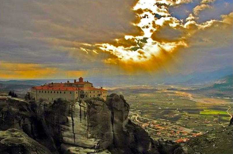 | ♕ |  Divine Light - Meteora Monastery, Greece  | by Aghios Stephanos