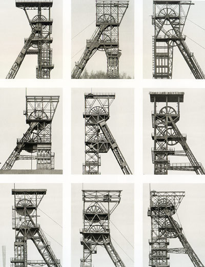 designcloud:  Typography from Typology: Bernd & Hilla Becher