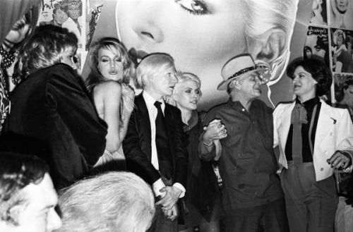 Jerry Hall, Andy Warhol, Debbie Harry, Truman Capote and Paloma Picasso -1979