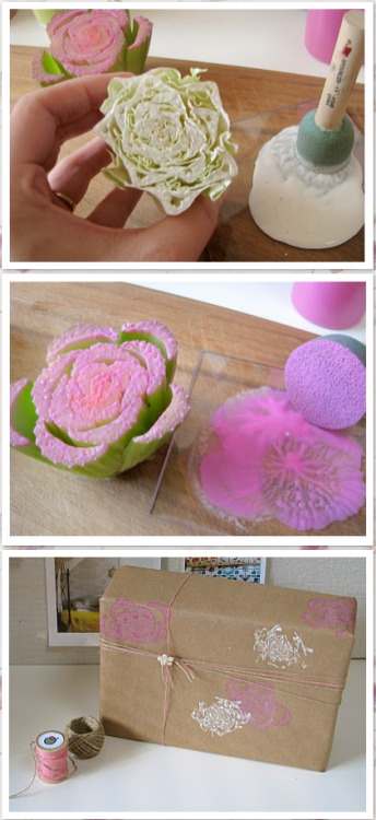 distantbloggers:  First DIY Tip Comes from Poppy Talk Blogspot Veggie Stamps