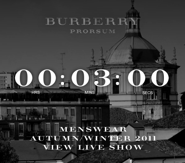 Good morning! The Burberry men's show is live-streaming at 11:00, join me won't you? Be advised, I'm not wearing pants…ah the beauty of live-stream.