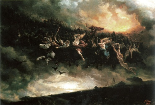The wild hunt of Odin Peter Nicolai Arbo