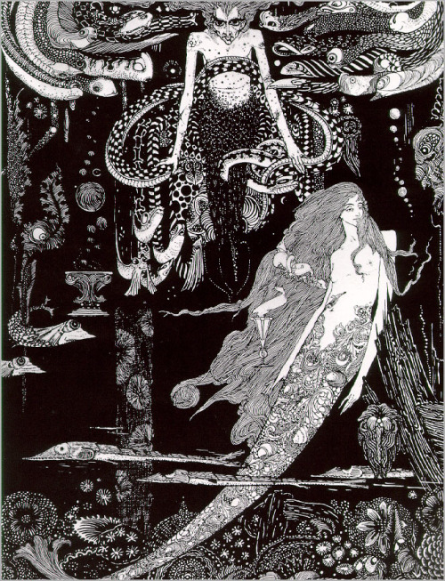 """The little Mermaid"" ~ Harry Clarke via"