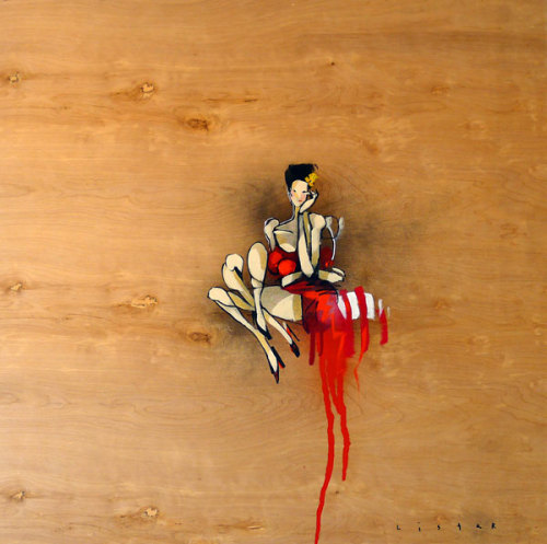 inkyeagle:  Anthony Lister's paintings on wood