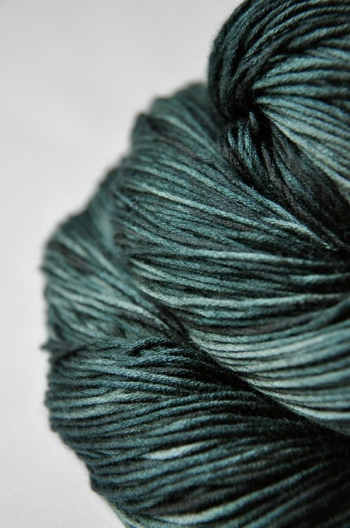 Lost in the marshes of madness OOAK Silk/Cashmere by DyeForYarn