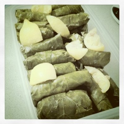 Made grape leaves today! (Taken with instagram)