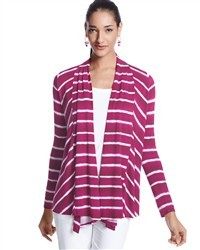 I don't own any sweaters in this style, but I really like this pink striped sweater from White Black ($39.98, Click through to buy)