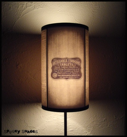 Vintage Medicine Lampshade lamp shade by SpookyShades on Etsy