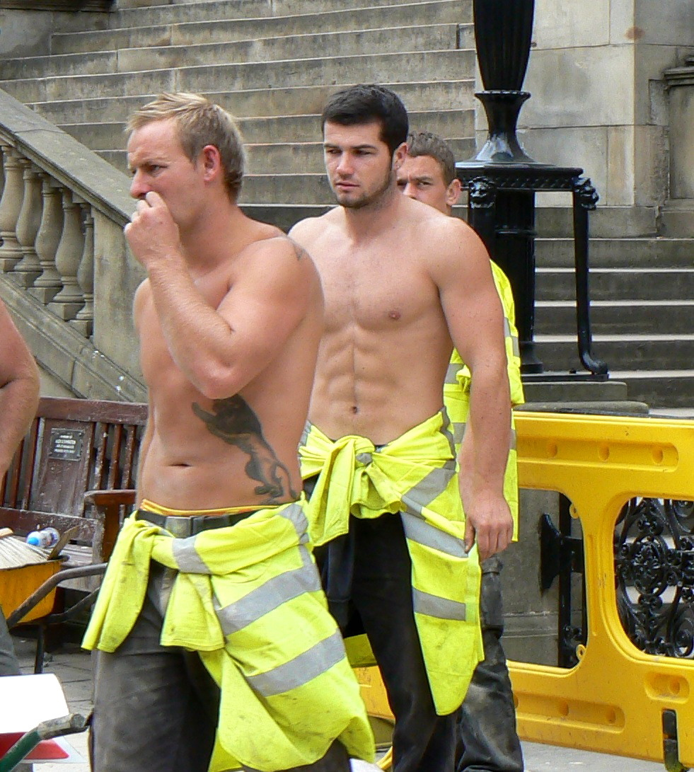 men construction