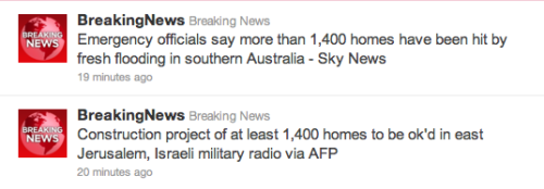 Maybe we should give those homes in Jerusalem to the Australians!