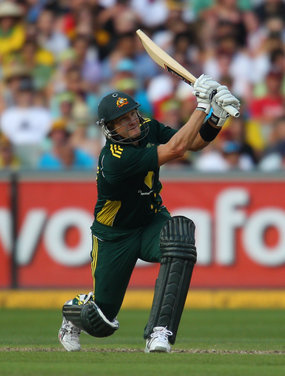 sandymint:  Shane Watson got Australia over the line tonight making 161 not out, with a huge 6 in the last over to win the match. This made my night.