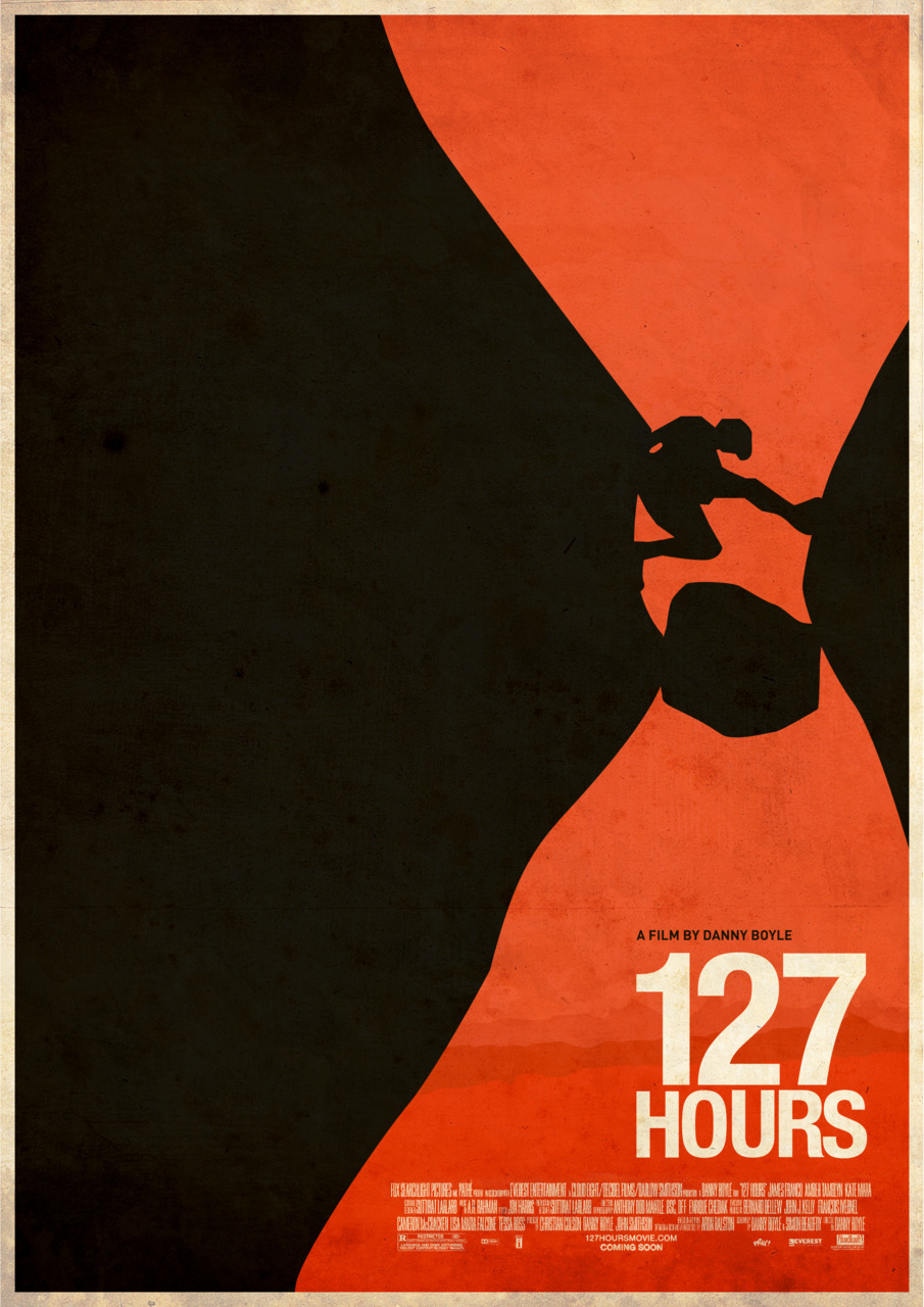 I want to see this. minimalmovieposters:  127 Hours by Simran Singh