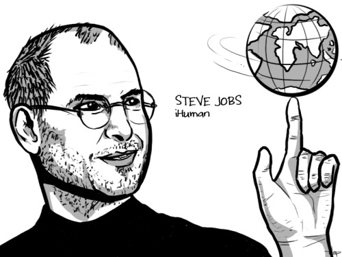 """Stay hungry, stay foolish."" - Steve Jobs Truly inspiring! But I think Barney Stinson's line could best describe this visionary's life: ""When you become sad, stop being sad and become AWESOME instead. TRUE STORY.""  Check out Bloomberg Game Changers: Steve Jobs."