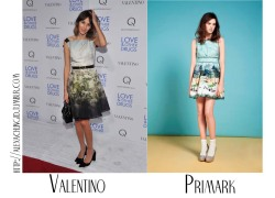 Alexa Chung ID'ed: Where to get it?Alexa is wearing a dress from Valentino that looks like this dress from Primark. In stores February/March.