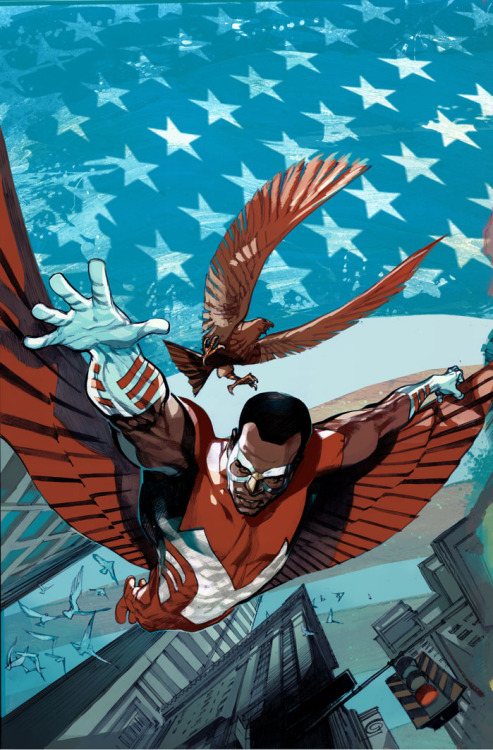 Captain America and Falcon 1 cover by GREG TOCCHINI